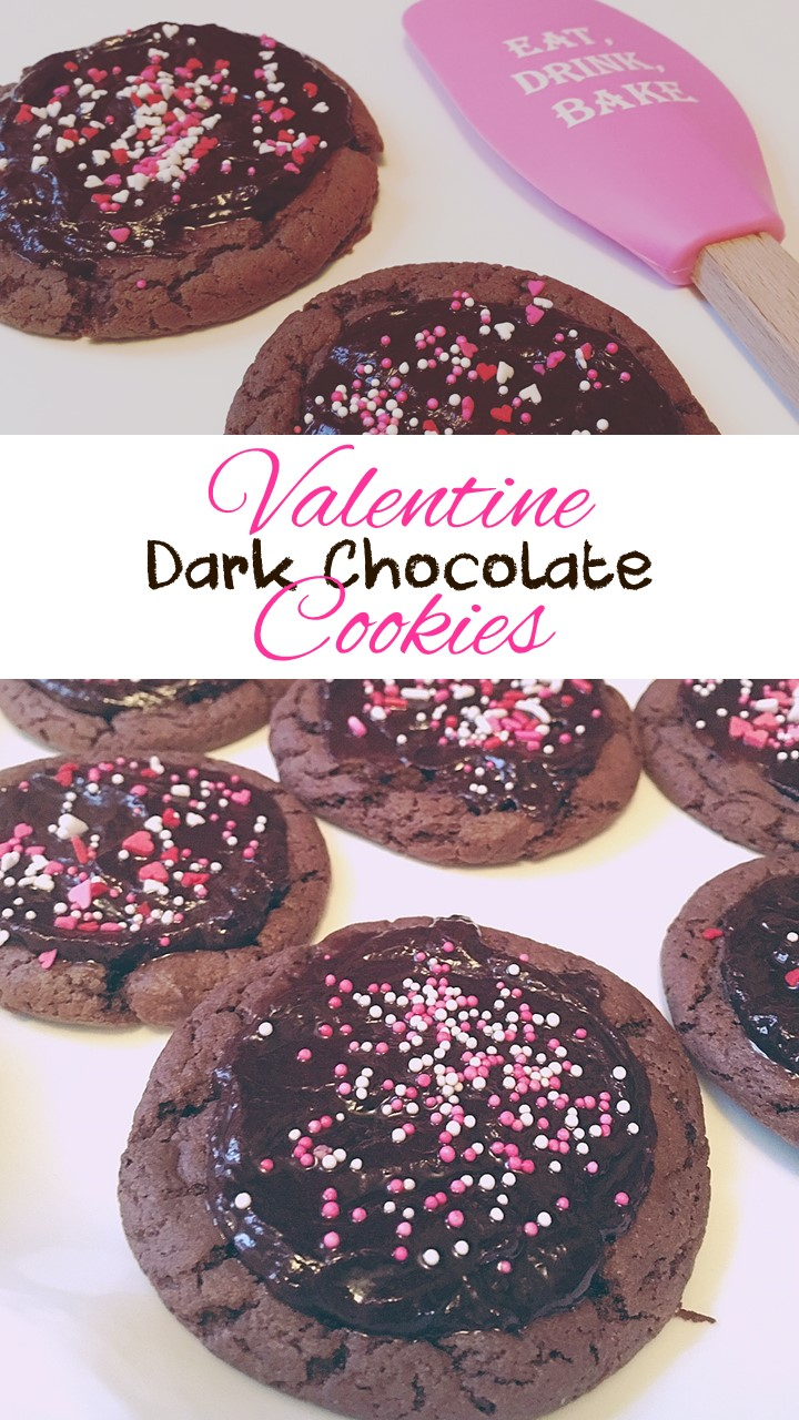 Valentine Dark Chocolate Cookies Recipe