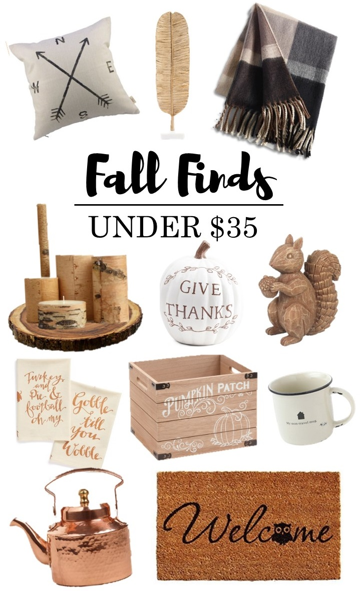 Fall Finds Under $35 - Fall Decor on a Budget