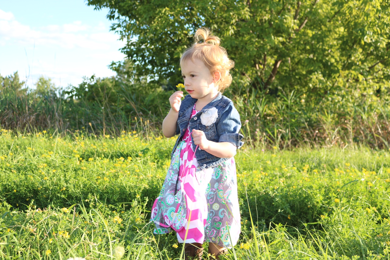 Fun FRIYAY Finds - Unbroken Circle Reversible dresses for little girls made with fun, bright and funky fabrics