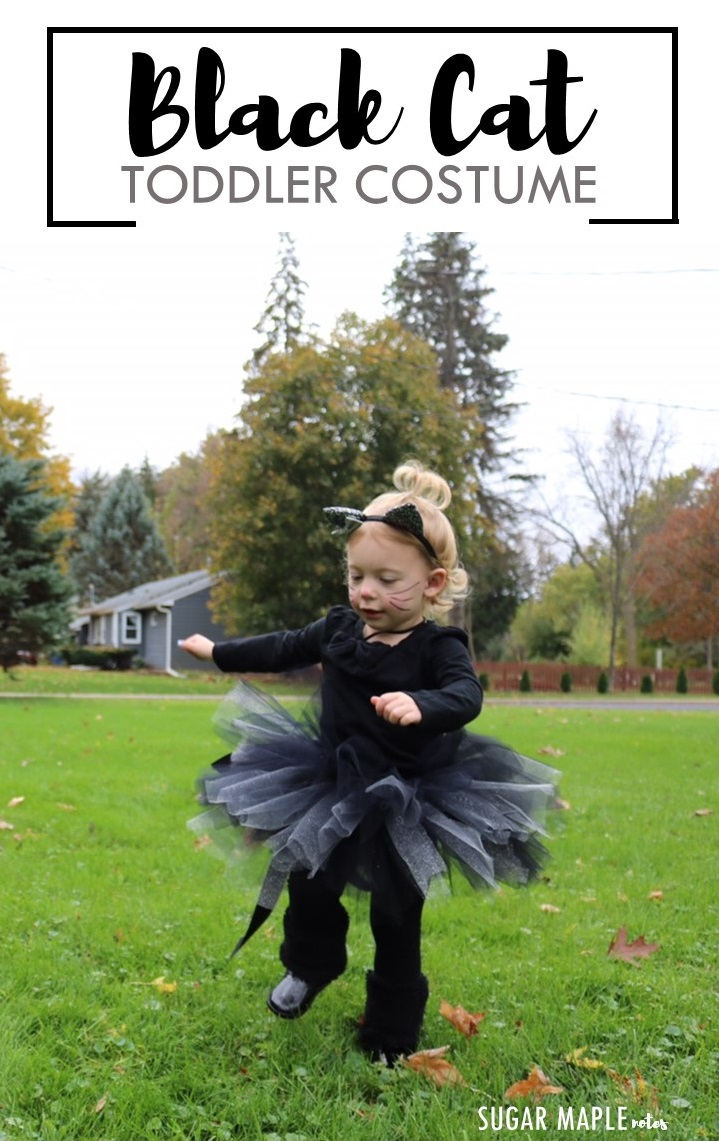 Halloween Black Cat Costume Idea And Diy Tutu Tutorial For Toddler