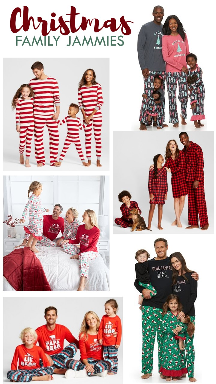 Christmas Family Jammies Round-Up - Pajamas for the whole family this Holiday Season