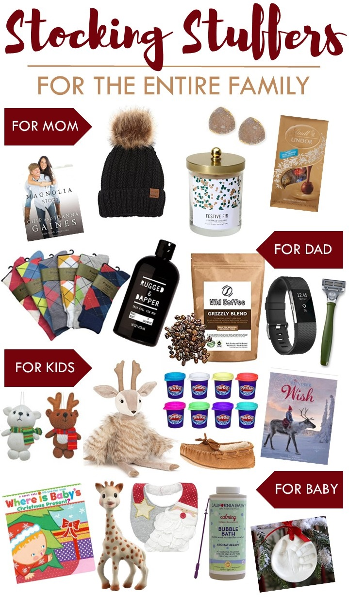 Stocking Stuffers for the Entire Family this Christmas | Gifts for Mom, Dad, Kids, and Baby!