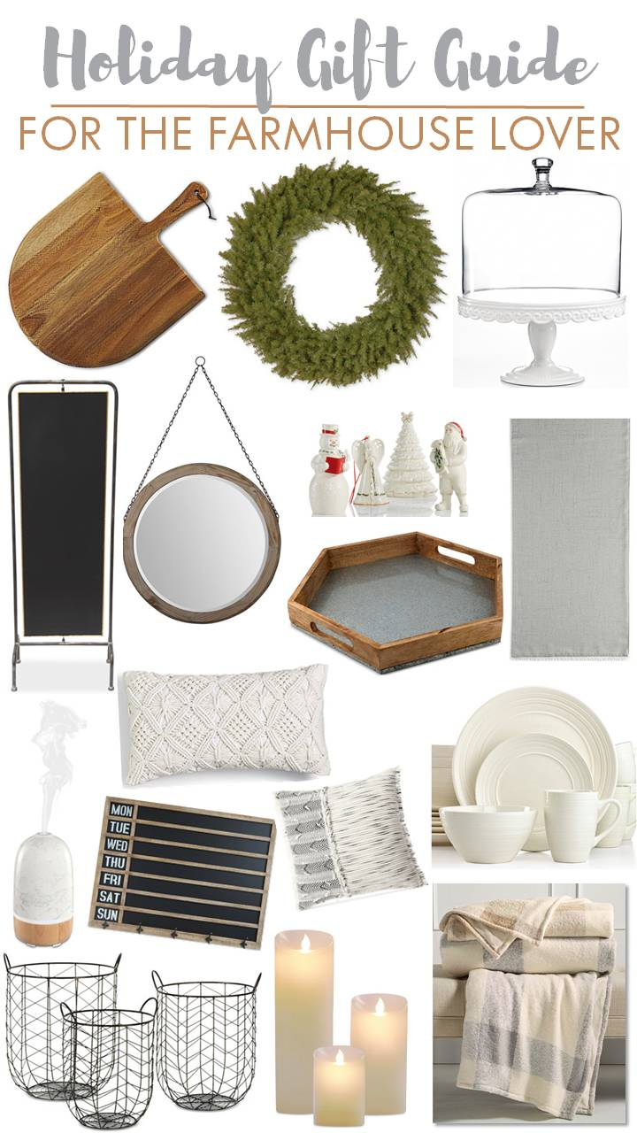 Holiday Gift Guide for the Farmhouse Style Lover @macys #sponsored