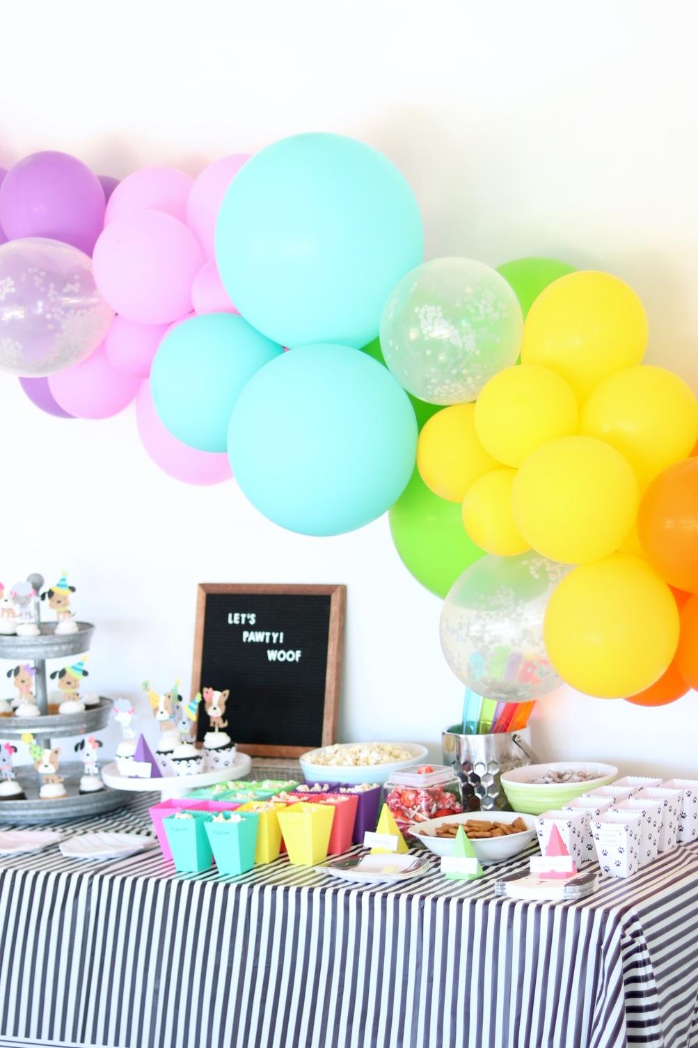 Diy Balloon Garland Tutorial Sugar Maple Notes