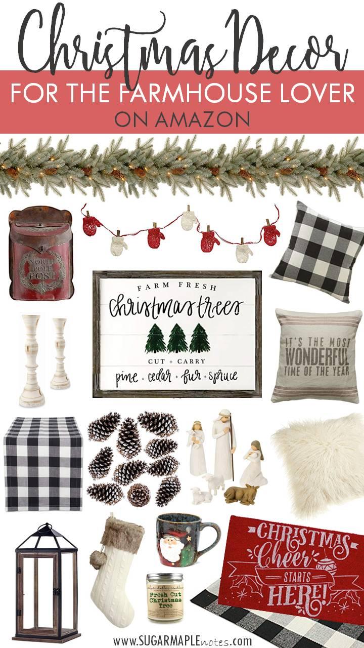 Christmas Decor For The Farmhouse Lover On Amazon Sugar Maple Notes